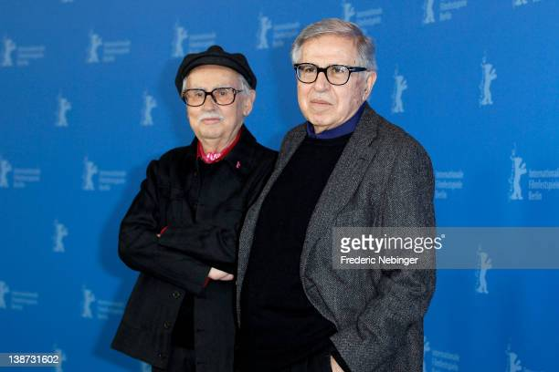 Directors Paolo Taviani and Vittorio Taviani attend the Cesare deve morire Photocall during day three of the 62nd Berlin International Film Festival...