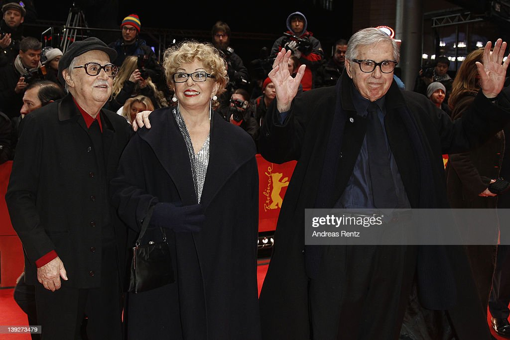 Directors Paolo Taviani (R), Producer Grazia Volpi and Vittorio Taviani attend the Closing Ceremony during day ten of the 62nd Berlin International Film Festival at the Berlinale Palast on February 18, 2012 in Berlin, Germany.