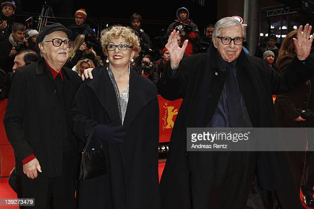 Directors Paolo Taviani Producer Grazia Volpi and Vittorio Taviani attend the Closing Ceremony during day ten of the 62nd Berlin International Film...