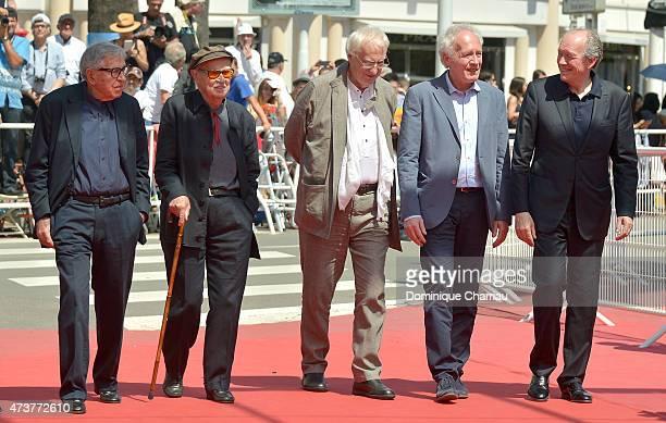 """Directors Paolo Taviani, Vittorio Taviani, Directors Bertrand Tavernier, Jean-Pierre Dardenne and Luc Dardenne attend the """"Lumiere!"""" Premiere during..."""