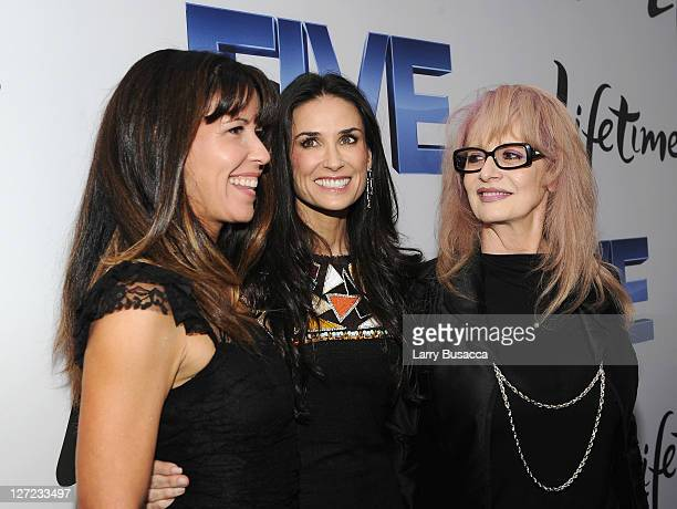 Directors Patty Jenkins Demi Moore and Penelope Spheeris attend the premiere of Lifetime's Five from Jennifer Aniston Demi Moore Alicia Keys at...