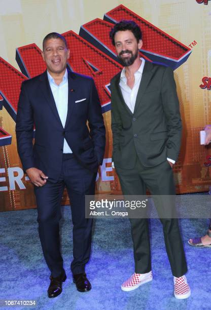 Directors Peter Ramsey and Bob Persichetti arrive for the World Premiere Of Sony Pictures Animation And Marvel's SpiderMan Into The SpiderVerse held...