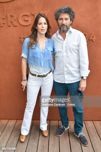 Directors Radu Mihaileanu and Nathalie Marchak attend the 2017 French Tennis Open Day Seven at Roland Garros on June 3 2017 in Paris France