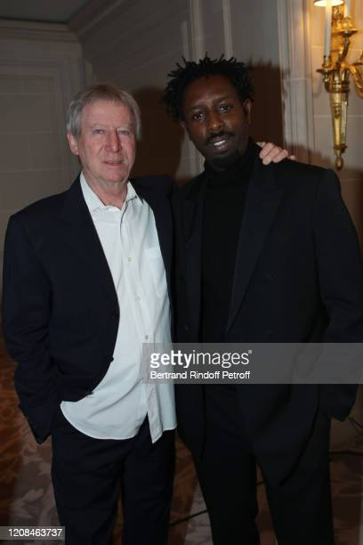 Directors Regis Wargnier and Ladj Ly attend the Diner des Producteurs Producer's Dinner Cesar 2020 at Four Season George V on February 24 2020 in...