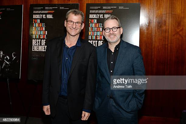 Directors Robert Gordon and Morgan Neville attend Best Of Enemies New York premiere at Museum Of Arts And Design on July 29 2015 in New York City