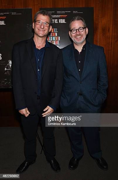Directors Robert Gordon and Morgan Neville attend the New York premiere of Best Of Enemies at Museum Of Arts And Design on July 29 2015 in New York...