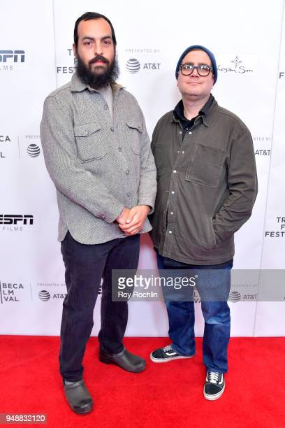 Directors Rodrigo OjedaBeck and Robert Machoian attend a screening of When She Runs during the 2018 Tribeca Film Festival at Cinepolis Chelsea on...