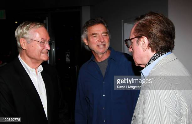 Directors Roger Corman Curtis Hanson and Writer/director Peter Bogdanovich attends Conversations Roger Corman during the 2010 Los Angeles Film...