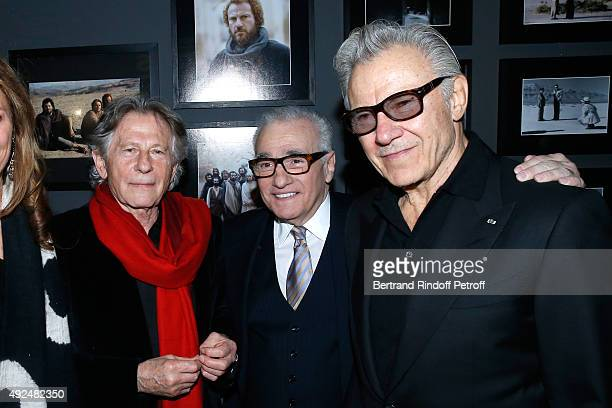 Directors Roman Polanski, Martin Scorsese and Actor Harvey Keitel attend the Tribute to Director Martin Scorsese at Cinematheque Francaise on October...