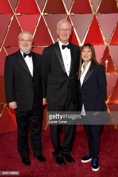Directors Ron Clements John Musker and producer Osnat Shure attend the 89th Annual Academy Awards at Hollywood Highland Center on February 26 2017 in...
