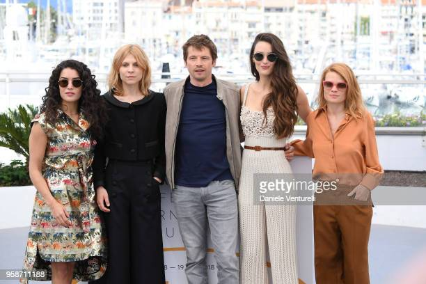 Directors Sabrina Ouazani Clemence Poesy Pierre Deladonchamps Charlotte Le Bon and Melanie Thierry attend the photocall for Talents Adami 2018 during...