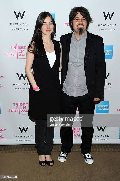 Directors Sara Zandieh and Scandar Copti attend the Awards Night Show Party during the 2010 Tribeca Film Festival at the W New York Union Square on...
