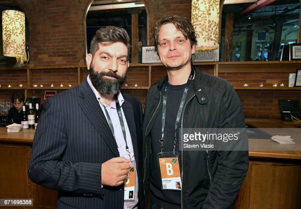Directors Shady Srour and Mikal Hovland attend Director's Brunch at 2017 Tribeca Film Festival at City Winery on April 22 2017 in New York City