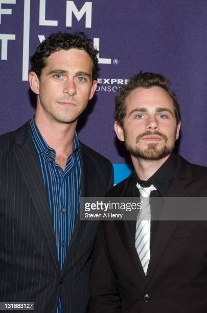 Directors Shiloh Strong and Rider Strong attend the Mix Tape shorts program during the 10th annual Tribeca Film Festival at AMC Loews Village 7 on...