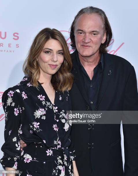 Directors Sofia Coppola and Quentin Tarantino arrive at the US Premiere of 'The Beguiled' at Directors Guild of America on June 12 2017 in Los...