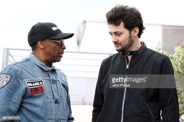 Directors Spike Lee and AB Shawky attend the photocall for The Blackhouse Foundation Host Brunch Honouring Spike Lee Tonya Lewis Lee during the 71st...
