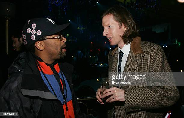 "Directors Spike Lee and Wes Anderson attend ""The Life Aquatic With Steve Zissou"" premiere after party at Roseland Ballroom December 9, 2004 in New..."