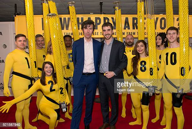 """Directors Stefan Sagmeister and Ben Nabors attend """"The Happy Film"""" premiere during 2016 Tribeca Film Festival at Chelsea Bow Tie Cinemas on April 16,..."""