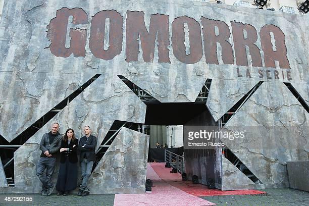 Directors Stefano Sollima, Francesca Comencini and Claudio Cupellini attend the 'Gomorra - La Serie' photocall at The Space Cinema Moderno on April...