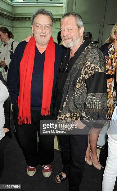 Directors Stephen Frears and Terry Gilliam attend the BFI's 'Genius Of Hitchcock' drinks reception featuring a gala screening of Hitchcock's...