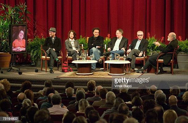 Directors Stephen Frears Jonathan Dayton Valerie Faris Alejandro Gonzalez Inarritu Bill Condon Martin Scorsese and moderator Jeremy Kagan attend the...