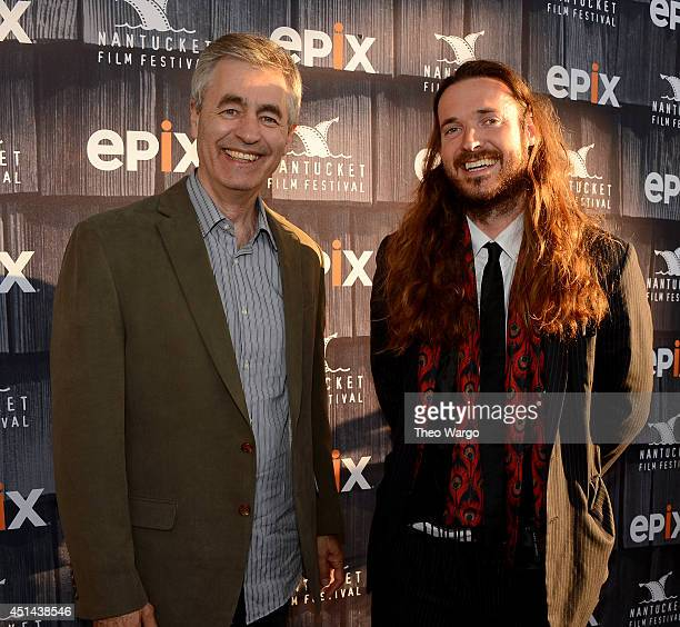 Directors Steve James and Mike Cahill attend The Screenwriters Tribute Awards at The 19th Annual Nantucket Film Festival on June 28 2014 in Nantucket...