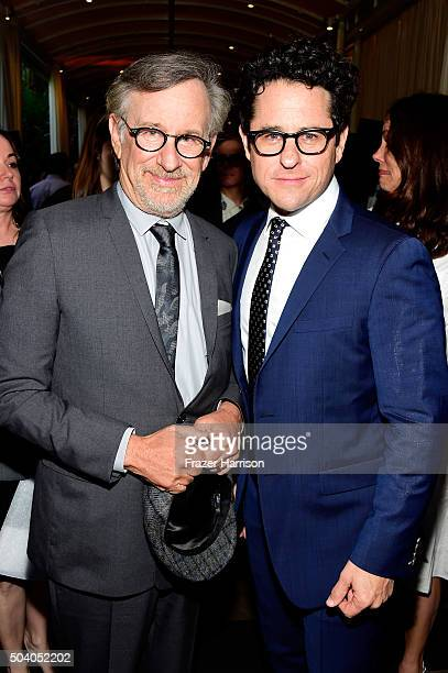 Directors Steven Spielberg and JJ Abrams attend the 16th Annual AFI Awards at Four Seasons Hotel Los Angeles at Beverly Hills on January 8 2016 in...