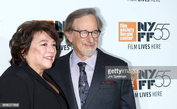 Directors Susan Lacy and Steven Spielberg attend the 55th New York Film Festival 'Spielberg' premiere at Alice Tully Hall on October 5 2017 in New...