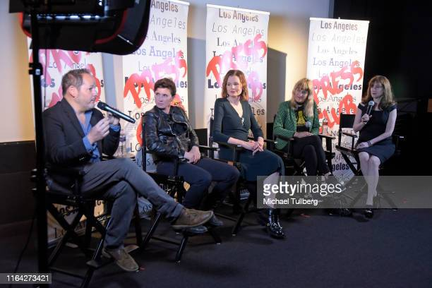 Directors Tom Donahue and Kimberly Peirce, executive producer Geena Davis, director Catherine Hardwicke and screenwriter Devra Maza speak at a Q&A...