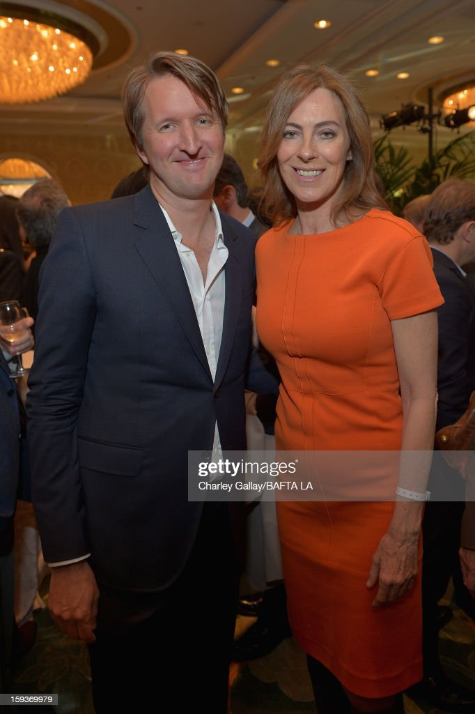 Directors Tom Hooper and Kathryn Bigelow attend the BAFTA Los Angeles 2013 Awards Season Tea Party held at the Four Seasons Hotel Los Angeles on January 12, 2013 in Los Angeles, California.
