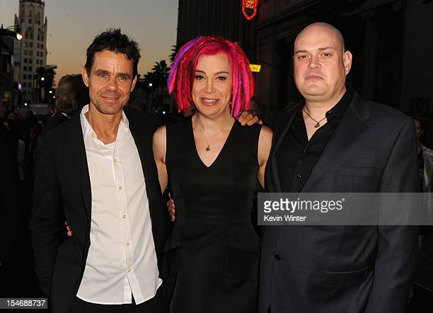 Directors Tom Tykwer Lana Wachowski and Andy Wachowski arrive at Warner Bros Pictures' Cloud Atlas premiere at Grauman's Chinese Theatre on October...