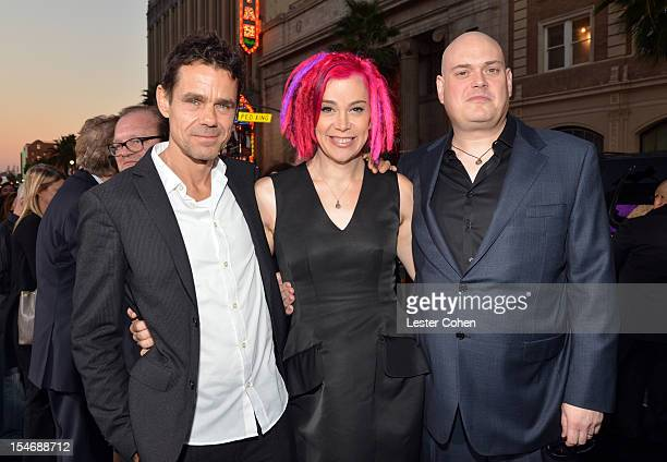 Directors Tom Tykwer Lana Wachowski and Andy Wachowski arrive at the Los Angeles premiere of Cloud Atlas at Grauman's Chinese Theatre on October 24...