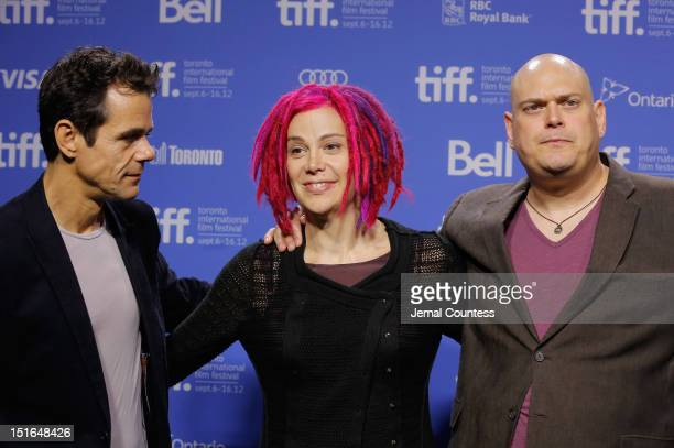 Directors Tom Tykwer Lana Wachowski and Andy Wachowski attend Cloud Atlas Photo Call during the 2012 Toronto International Film Festival at TIFF Bell...