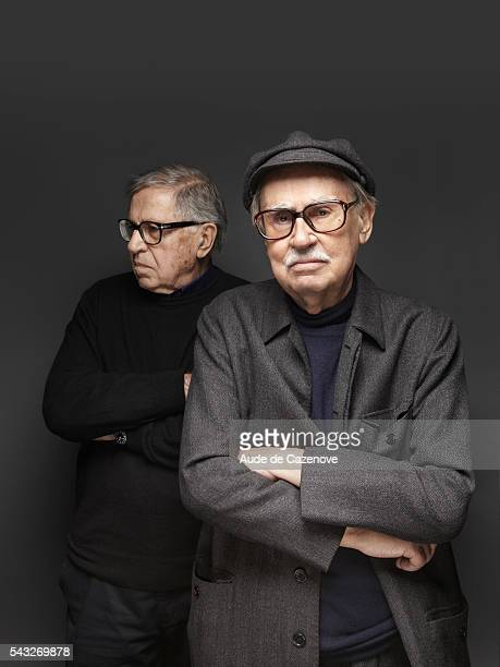 Directors Vittorio Taviani and Paolo Taviani are photographed for Self Assignment on February 16 2012 in Berlin Germany