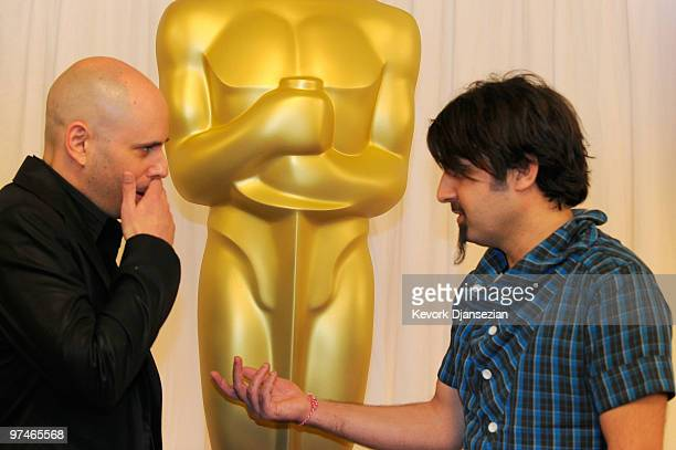 Directors Yaron Shani and Scandar Copti 'Ajami' attend the Academy Awards Foreign Language Film Award directors photo op at the Kodak Theatre on...