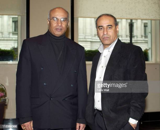 "Directors Yugesh Walia and Sunandan Walia during The Times BFI London Film Festival 2003 - ""Days and Night in an Indian Jail"" at Hotel Sofitel,..."