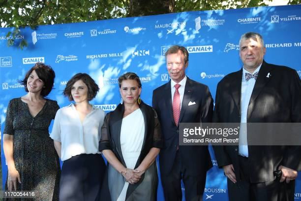Directors Zabou Breitman, Elea Gobbe-Mevellec, Grand Duke Henri of Luxembourg with the Grand Duchess Maria Theresa of Luxembourg and producer Stephan...