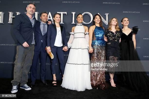 Director/screenwriter Alex Garland actors Oscar Isaac Tuva Novotny Tessa Thompson Gina Rodriguez Jennifer Jason Leigh and Natalie Portman attend the...
