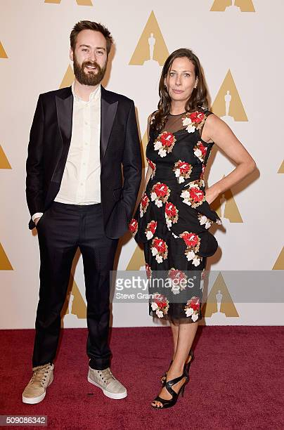 Director/screenwriter Benjamin Cleary and producer Serena Armitage attend the 88th Annual Academy Awards nominee luncheon on February 8, 2016 in...