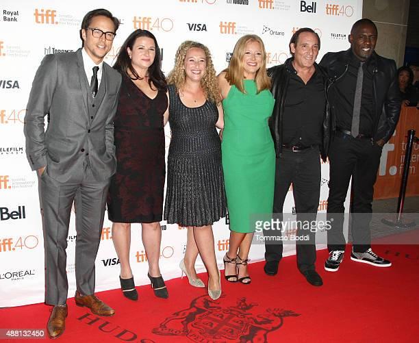 Director/screenwriter Cary Joji Fukunaga producers Amy Kaufman Riva Marker Daniela Taplin Lundberg Daniel Crown and actor Idris Elba attend the...