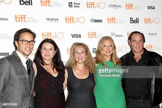 Director/screenwriter Cary Joji Fukunaga producers Amy Kaufman Riva Marker Daniela Taplin Lundberg and Daniel Crown attend the 'Beasts Of No Nation'...