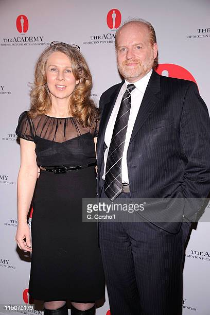 Director/screenwriter Courtney Hunt and Don Harwood attend the Academy of Motion Picture Arts Sciences New York Oscar night party at GILT at The New...