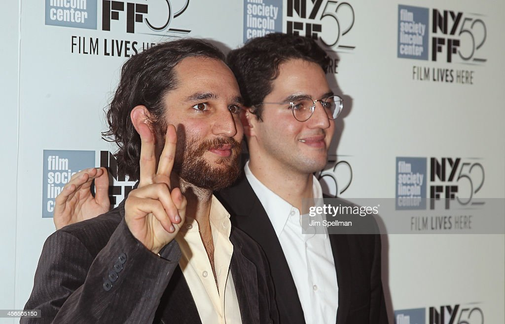 Director/screenwriter Joshua Safdie and brother, director Benny Safdie attends the 'Heaven Knows What' Premiere during the 52nd New York Film Festival at Alice Tully Hall on October 2, 2014 in New York City.