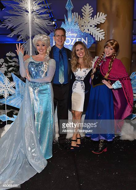 Director/story by Chris Buck and director/screenwriter/story by Jennifer Lee attend The World Premiere of Walt Disney Animation Studios' Frozen After...