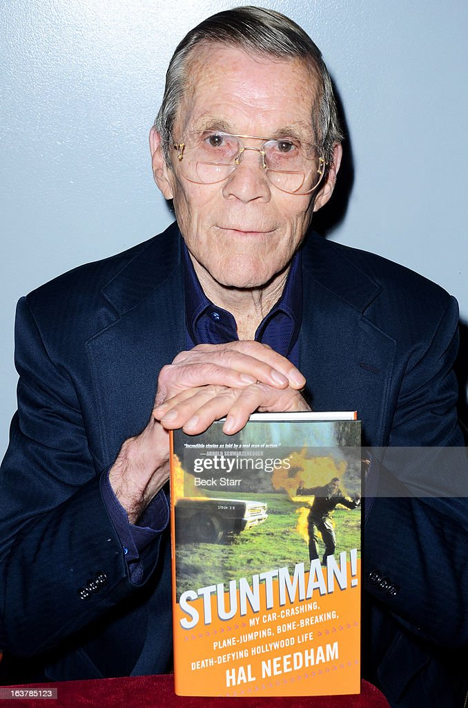 Director/stuntman Hal Needham signs copies of his new book 'Stuntman!' hosted by American Cinematheque at Aero Theatre on March 15, 2013 in Santa Monica, California.