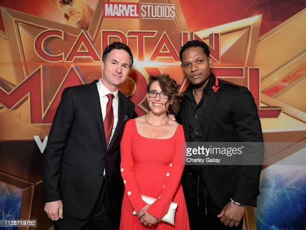 Directors/writers Ryan Fleck Anna Boden and actor Algenis Perez Soto attend the Los Angeles World Premiere of Marvel Studios' 'Captain Marvel' at...