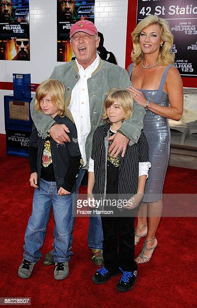 DirectorTony Scott and Donna W Scott with family arrive at the Premiere Of Columbia Pictures' The Taking Of Pelham 1 2 3 at the Mann Village Theatre...
