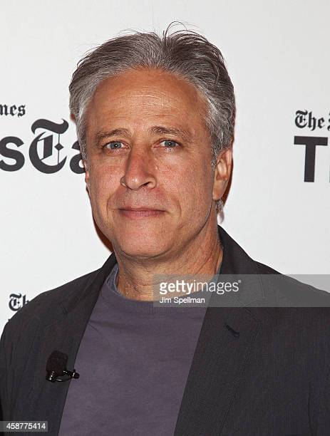 Director/tv personality Jon Stewart attends the TimesTalks with Jon Stewart and Maziar Bahari at TheTimesCenter on November 10 2014 in New York City