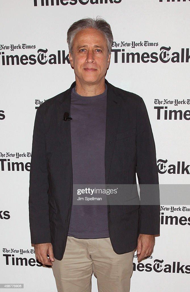 Director/tv personality Jon Stewart attends the TimesTalks with Jon Stewart and Maziar Bahari at TheTimesCenter on November 10, 2014 in New York City.
