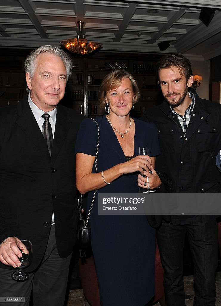 Director/writer Alan Rickman, producer Gail Egan and actor Dan Stevens at 'A Little Chaos' world premiere party hosted by GREY GOOSE vodka and Soho House Toronto during TIFF on September 13, 2014 in Toronto, Canada.